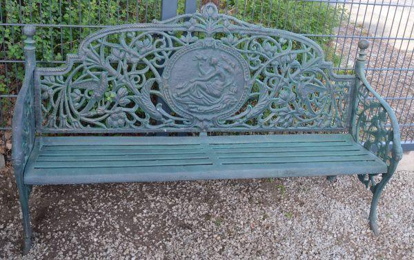 3 Sitzer Gartenbank Gußeisen
