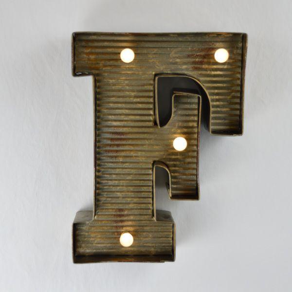 """Zinkblechbuchstabe""""F"""""""