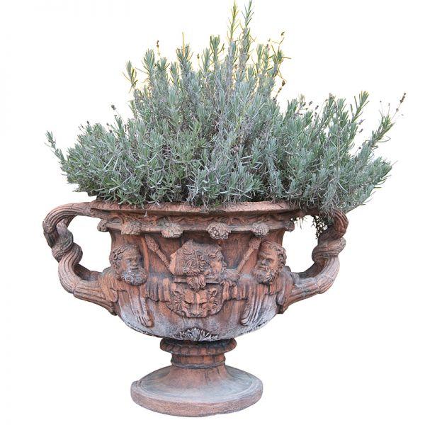 Warwick Vase in Englisch Terracotta