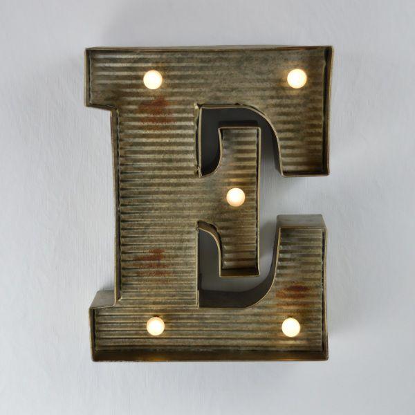 """Zinkblechbuchstabe""""E"""""""